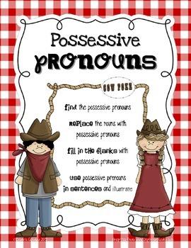 Possessive Pronouns for the Primary Grades