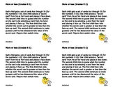 Postcard Math Tasks
