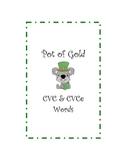 Pot of Gold CVC and CVCe Words
