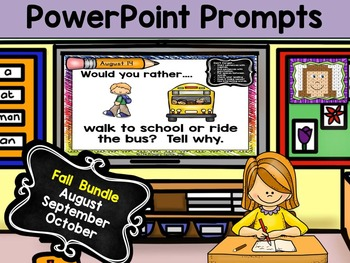 PowerPoint Prompts - Fall Bundle