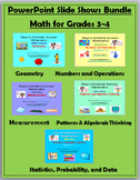 Math for Grades 3-4 PowerPoint Slide Show BUNDLE