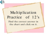 Powerpoint Presentation for Practicing Multiplication 12s Facts