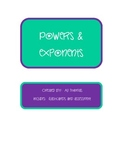 Powers and Exponents Quiz and Flashcards
