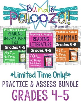 https://www.teacherspayteachers.com/Product/Practice-Assess-Bundle-for-Grades-4-5-ELA-Bundle-Palooza-Lovin-Lit-1840905