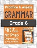 Practice & Assess GRAMMAR: Grade 6 NO PREP Printables