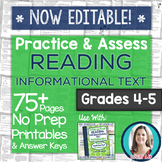 Practice & Assess READING INFORMATIONAL TEXT: Grades 4-5 N
