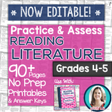 Practice & Assess READING LITERATURE: Grades 4-5 No Prep P