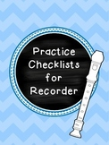Practice Checklist for Recorder
