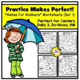 Practice Makes Perfect: Names for Numbers Worksheets