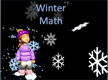 Pre - K and Kindergarten Winter Themed Math Packet