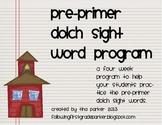 Pre-Primer Dolch Sight Word Program