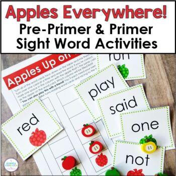 Pre-Primer Sight Words: Apples Everywhere!