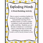 Prefixes and Suffixes:  Exploding Words