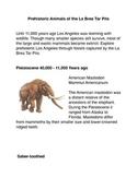 Prehistoric animals of the La Brea Tar Pits