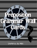 Preposition Grammar Wall Cards