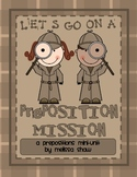 Preposition Mission: Prepositions Mini-Unit