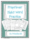 Preprimer Sight Word Pages