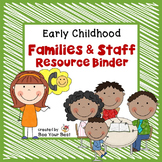 **FREEBIE** Preschool Organization-Families and Staff Reso