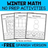 Kindergarten Common Core Math for Winter (English & Spanish)