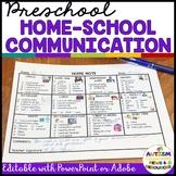 Preschool Special Education Home-School Communication Note