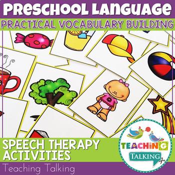 Preschool Speech Therapy Activities~ Printable Materials -