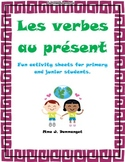 Present tense verb package of regular and irregular verbs