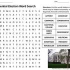 Presidential Election Word Search for students in grades 7-12