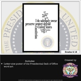 Presidential Inauguration Oath of Office Poster