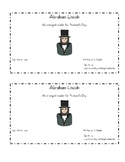 President's Day Emergent Reader: Abraham Lincoln