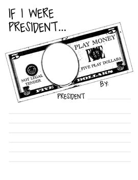 """President's Day """"If I Were President..."""" Printable Writing Activity"""