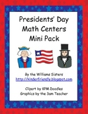 Presidents' Day Math Centers Mini Pack