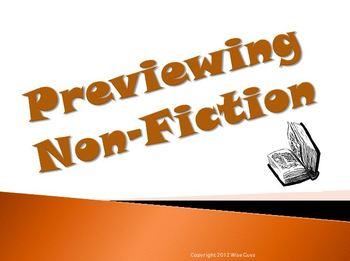 Previewing Non Fiction