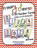 Primary Chevron Number Signs {with counting points}