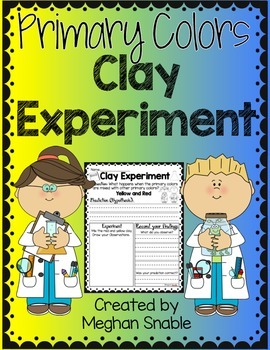 Primary Colors Clay Experiment- Freebie!