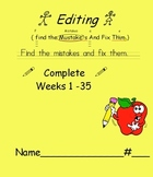Primary D.O.L. Language Arts Conventions Full Year EDITING