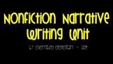 Primary Nonfiction (Personal) Narrative Writing Unit