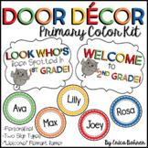 Primary Polka Dot Door Decor - Editable