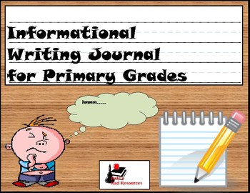 Primary Writing Journal: Informational Writing