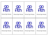 Primer Sight words Go Fish game