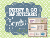 Print & Go SLP Notecards