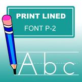 Print Lined Font