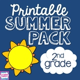 Printable Common Core Summer Packet for Second Grade