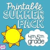 NO PREP Summer Packet for Fourth/ Fifth Grade