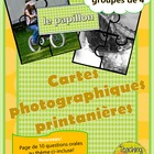 Spring Vocab / Cartes photographiques et vocabulaire de printemps