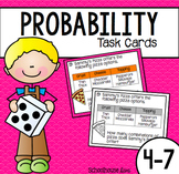 Probability Task Cards Word Problems + Assessment (4th - 7th)