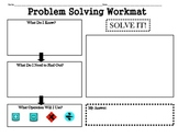 Problem Solving Workmat (Worksheet/Graphic Organizer)