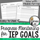 Special Education Progress Monitoring for IEP Goals