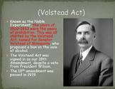 Prohibition and the 18th Amendment