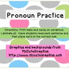 Pronoun Practice Activity