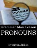 Pronouns Mini Lesson